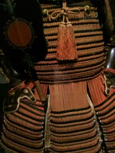 detail of samurai armor in the Ann and Gabriel Barbier-Mueller Collection
