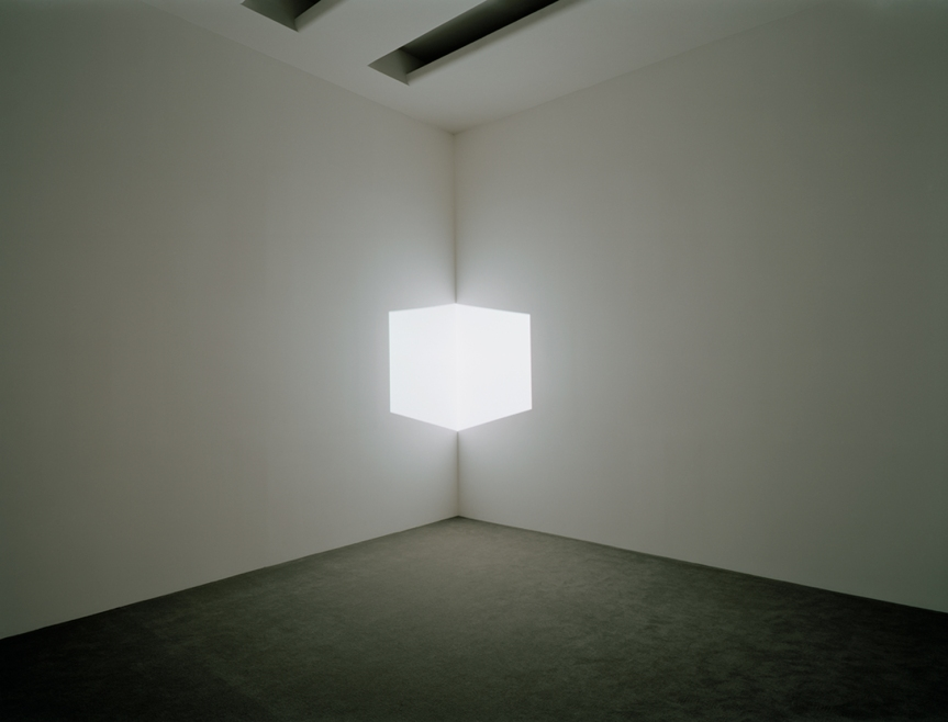 James Turrell - Afrum I (White), 1967  Photo: David Heald © Solomon R. Guggenheim Foundation, New York