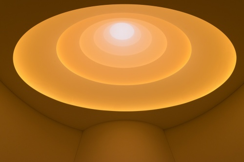 James Turrell Aten Reign, 2013 Daylight and LED light, dimensions variable © James Turrell Installation view: James Turrell, Solomon R. Guggenheim Museum, New York, June 21–September 25, 2013 Photo: David Heald © Solomon R. Guggenheim Foundation, New York