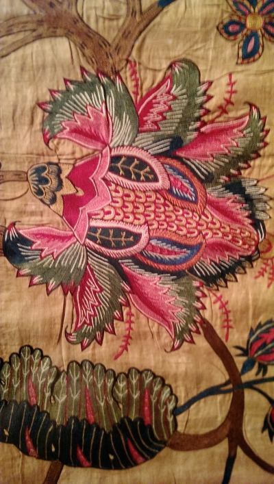 this wonderful winged insect from another Indian palampore made mid 18th-century.