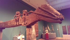 Ritual horse-serpent with riggers from Flores, Indonesia on view at the Yale University Art Gallery.