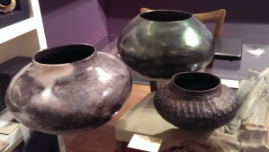 Pinch pots by John Pagliaro on display at the NY Ceramics and Glass Fair