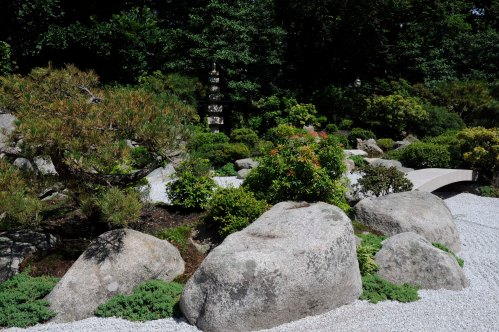 turtle island - Tenshin-en garden at MFA, Boston