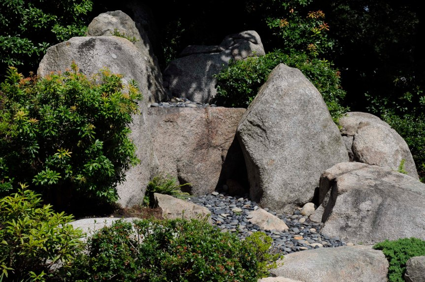 waterfall - Tenshin-en garden at MFA, Boston