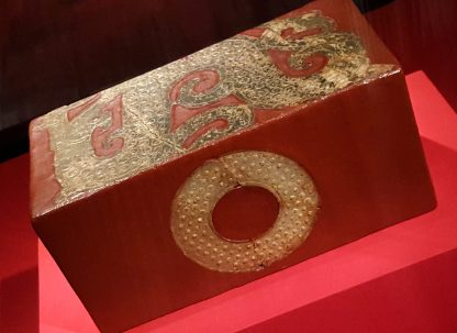 Burial pillow -- that's dragon form on the top (2nd-1st C BC)
