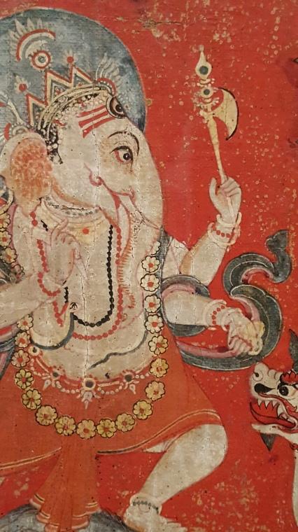 "detail from ""Shiva and Incarnations of Vishnu,' 1700s, Nepal."