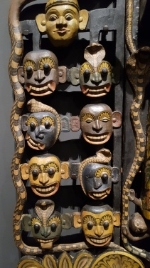 detail of Maha Kola Sanni Yansha mask
