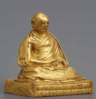 17th-century portrait sculpture of the Fifth Dalai Lama (1617–1682) - (Yury Khokhlov Collection - photo from exhibition catalog)